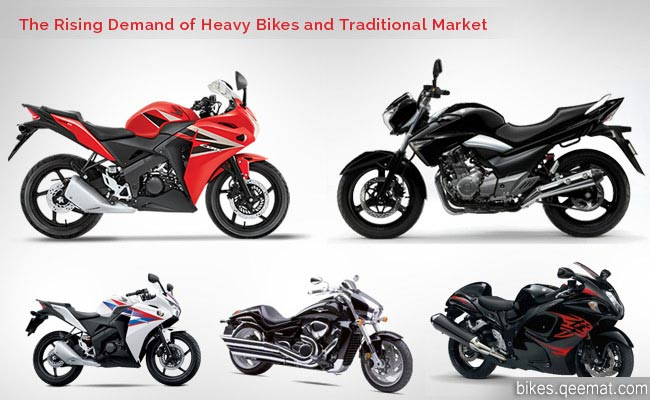 The Rising Demand of Heavy Bikes and Traditional Market