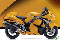 Suzuki Hayabusa in Yellow Color
